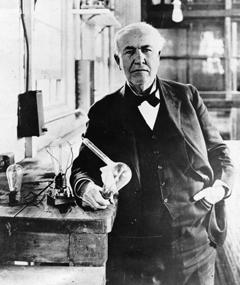Photo of Thomas A. Edison