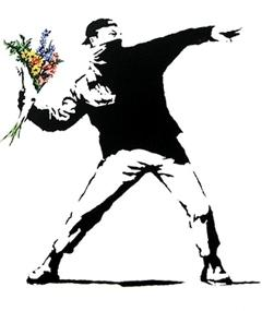 Foto af Banksy