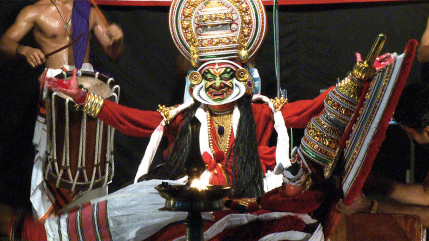 The Table with the Dogs (Kathakali)