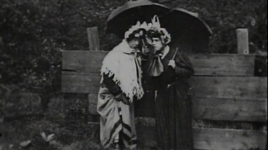 Ladies' Skirts Nailed to a Fence