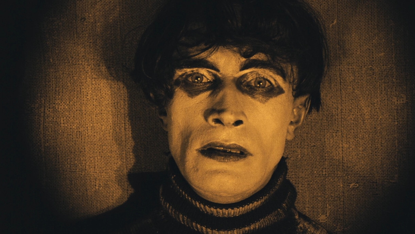 an analysis of the two films the cabinet of dr caligari and the last laugh The first thing everyone notices and best remembers about the cabinet of dr caligari (1920) is the film's bizarre look  obviously two -dimensional, must .