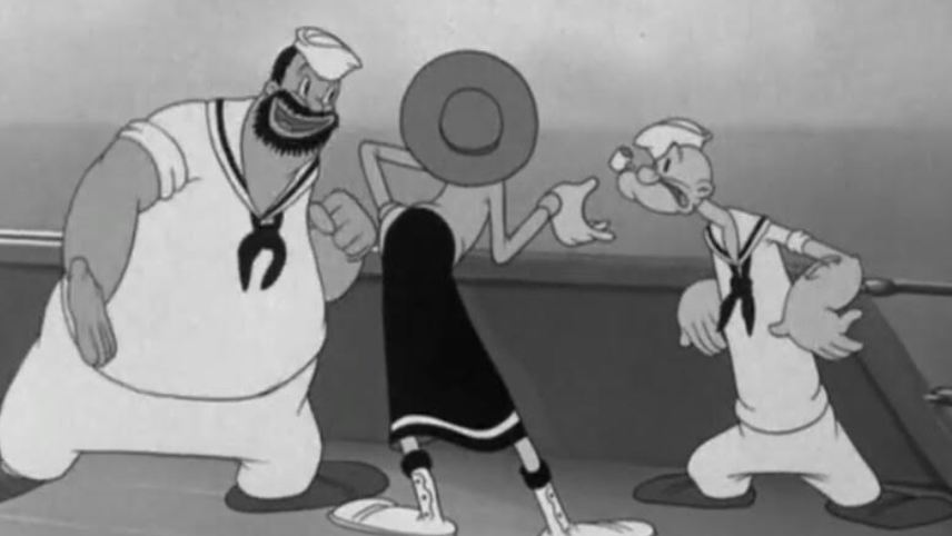Olive Oyl and Water Don't Mix