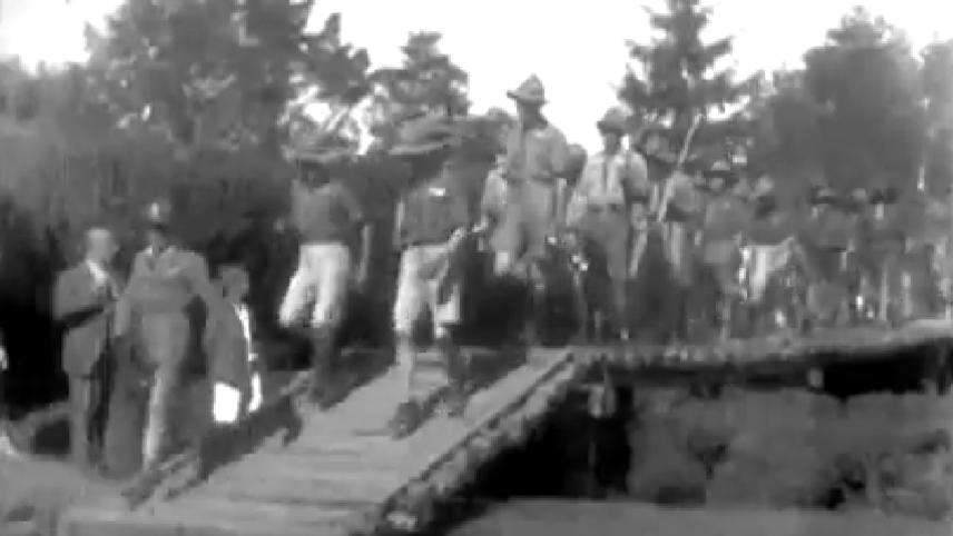 Boy Scout Drill in Sombor