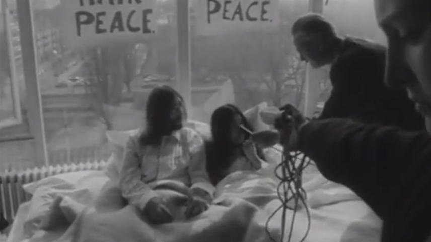 John Lennon & Yoko In Amsterdam