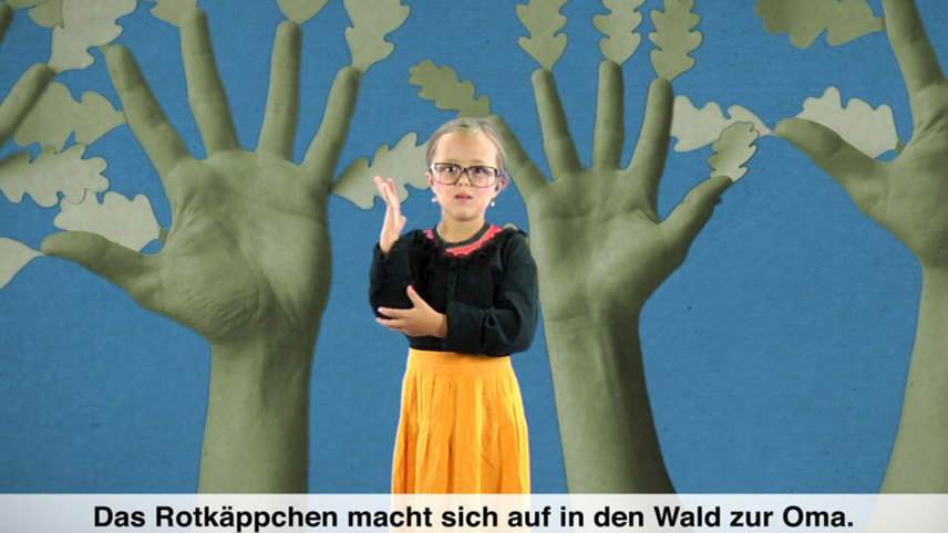 Little Red Riding Hood in German Sign Language