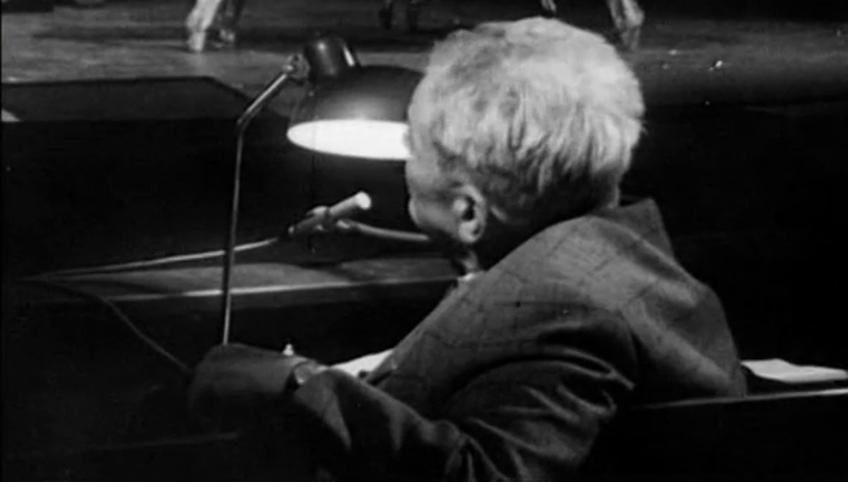 Fünfter Akt, siebte Szene. Fritz Kortner probt Kabale und Liebe