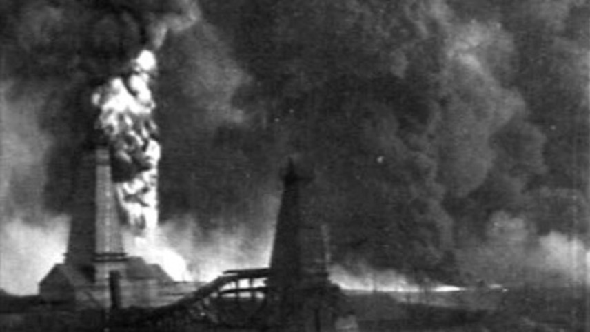 The Oil Gush Fire in Bibiheybat