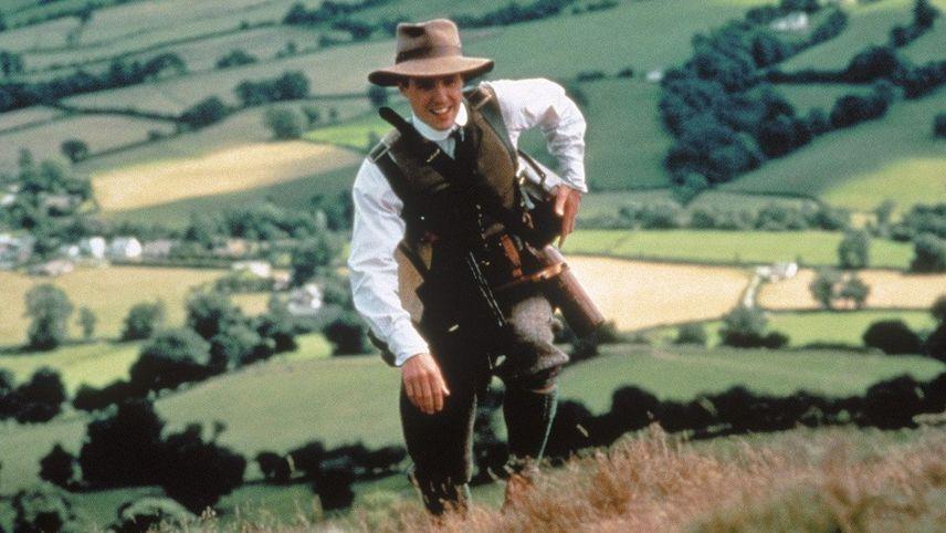 Der Engländer der auf einen Hügel stieg und von einem Berg herunterkam