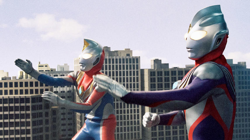 Ultraman Tiga and Ultraman Dyna