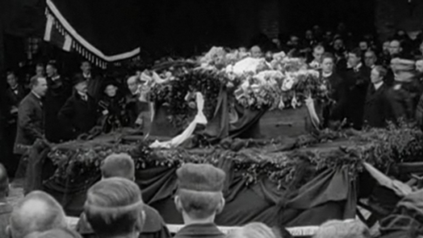 Bjørnsternje Bjørnson's Burial Procession Through Copenhagen