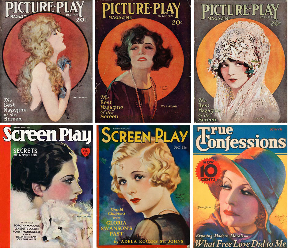 Henry Clive magazine covers