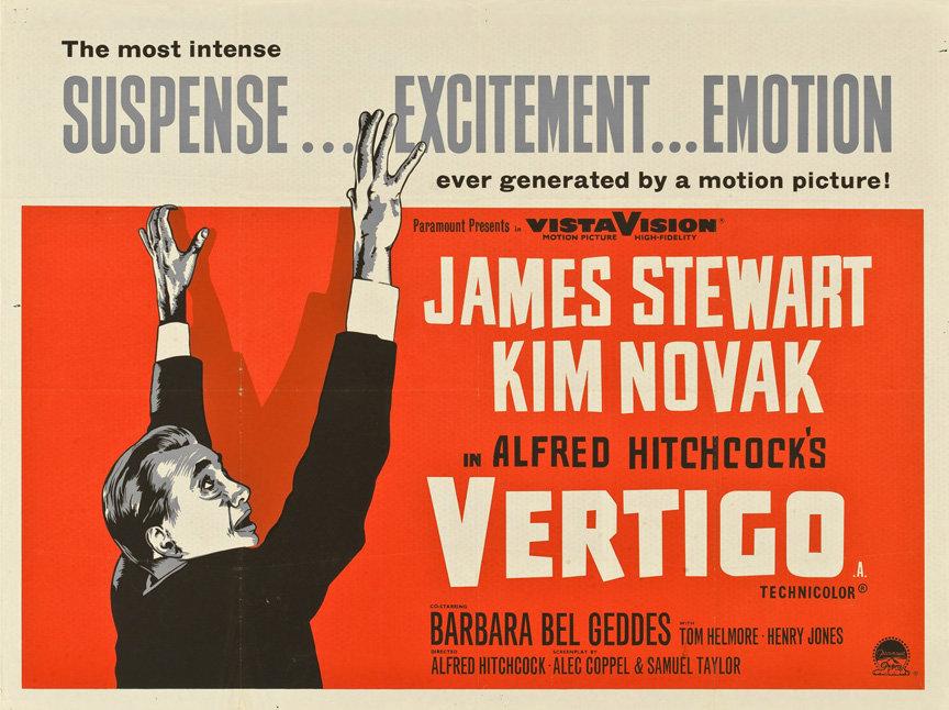 movie poster of the week alfred hitchcock�s �vertigo� on