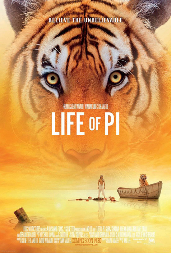 Opening Night film  Life of Pi   another of the strongest designs and  one of two posters featuring tigers  and followed by the others in  alphabetical. Movie Poster of the Week  The Posters of the 50th New York Film