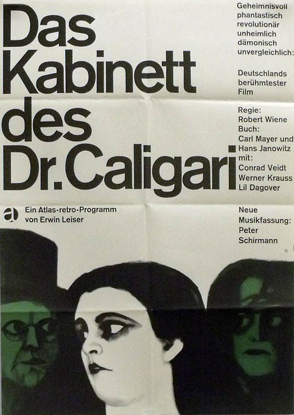 an analysis of the film the cabinet of dr caligari by robert wiene Robert wiene's expressionist classic has madness running all the way  original  title: das cabinet des dr caligari  the film begins as a tale.