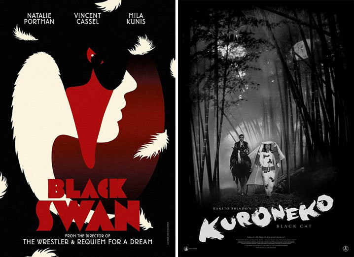 movie posters of the week quotblack swanquot and quotblack catquot on