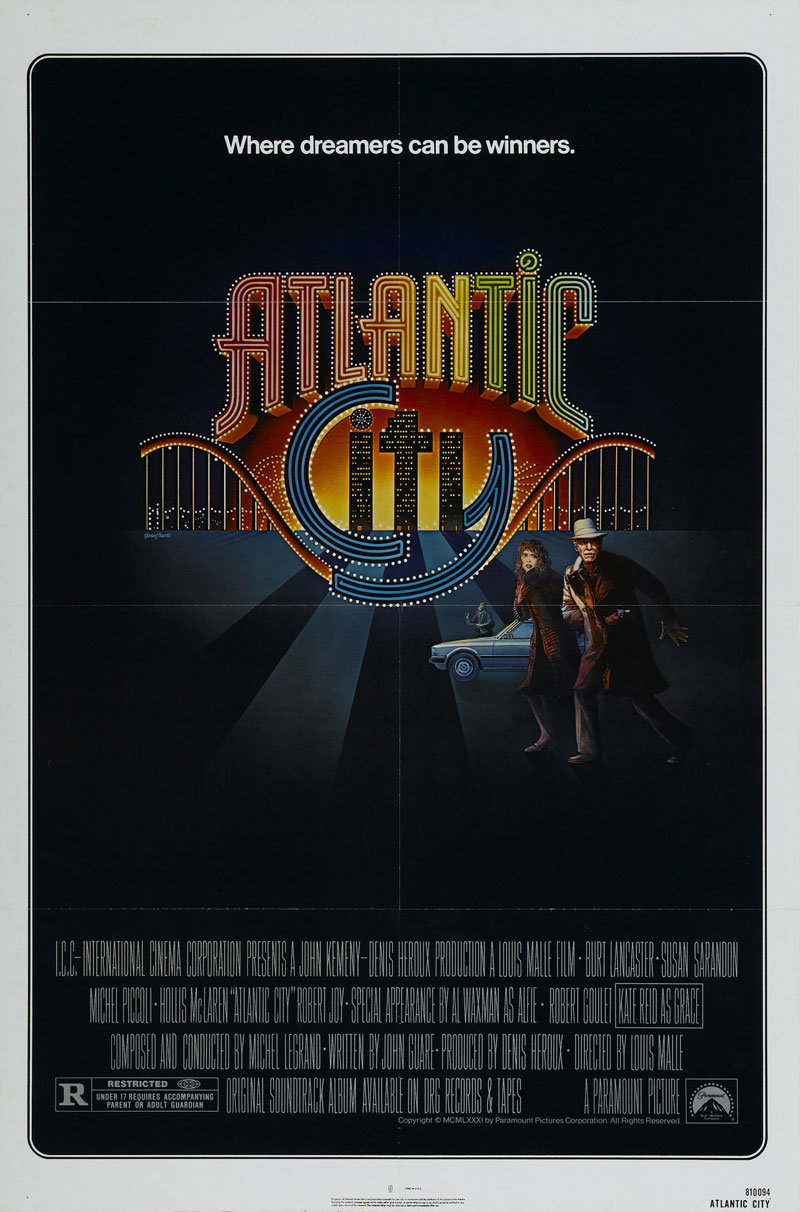 movie poster of the week �atlantic city� and the letter