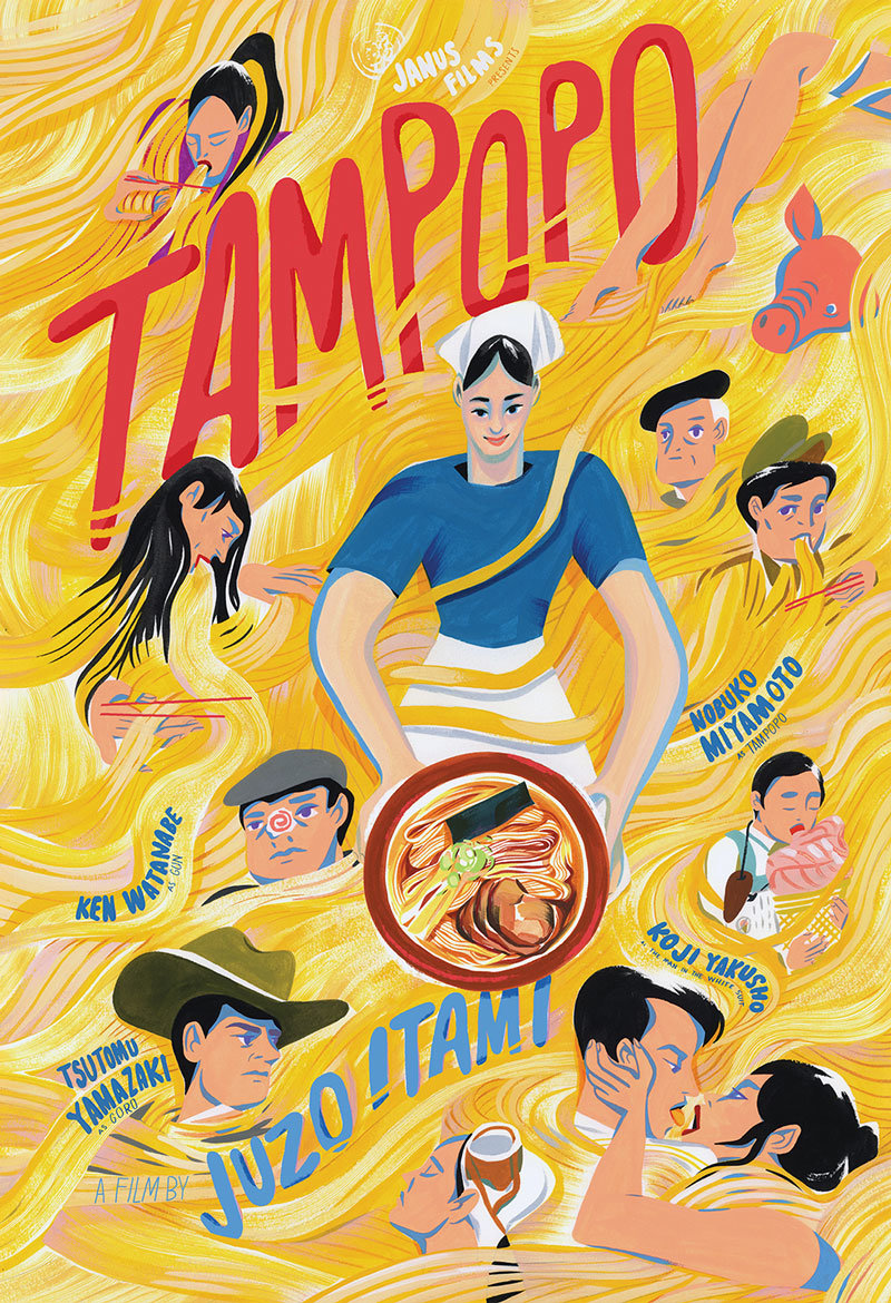 movie poster of the week juzo itami s tampopo on notebook mubi before babette s feast 1987 before like water for chocolate 1992 before big night 1996 and long