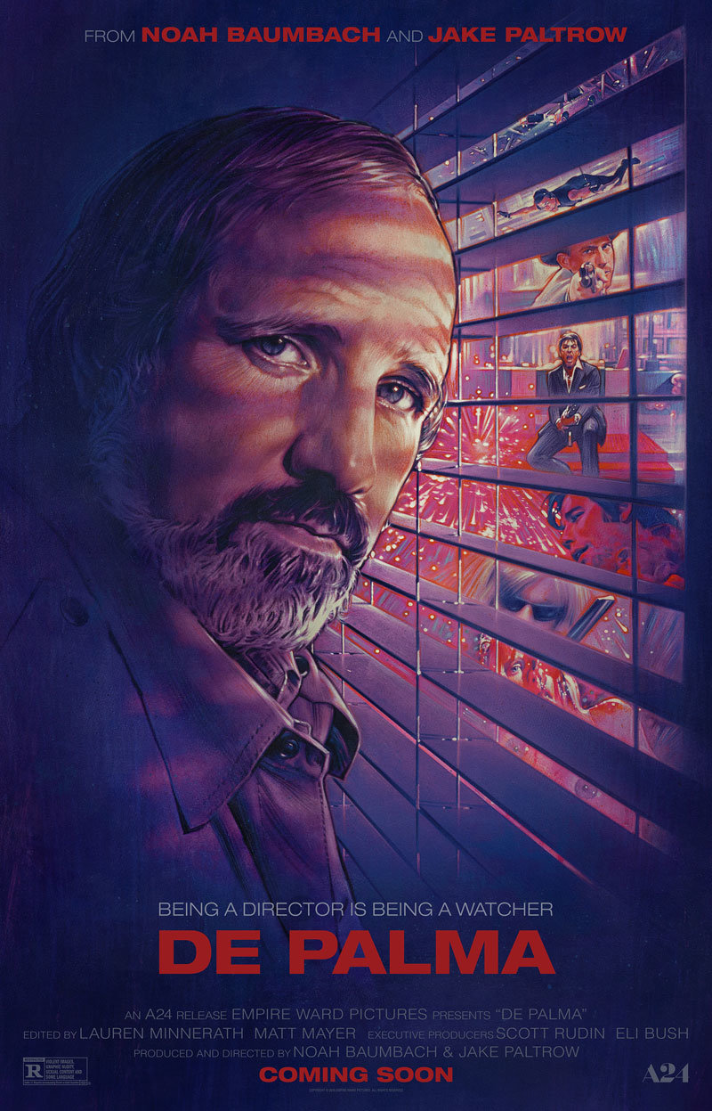 the best movie posters of on notebook mubi loving portrait of brian de palma was illustrated by steven chorney one of the classic 80s movie poster artists best known perhaps for labyrinth