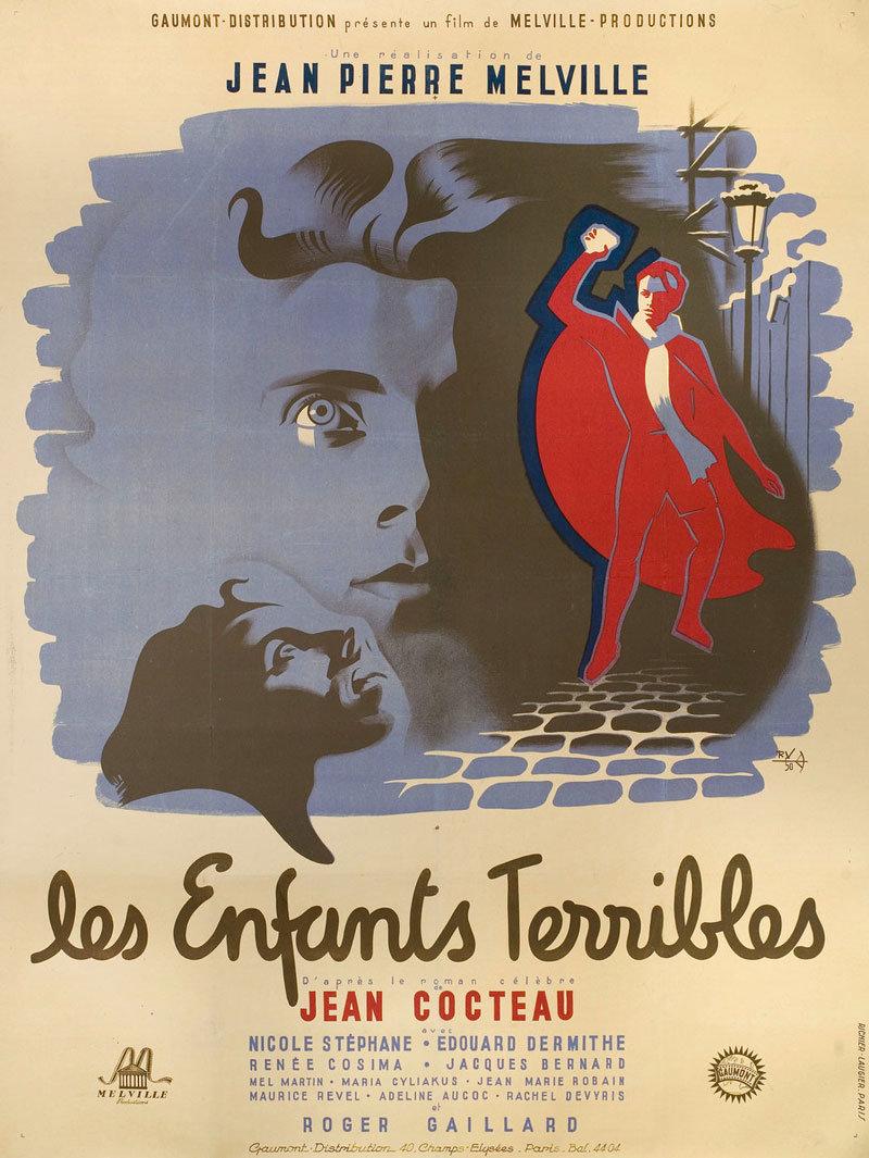 Poster design 1950 - Above French Poster For Les Enfants Terribles Jean Pierre Melville France 1950 Design By R V