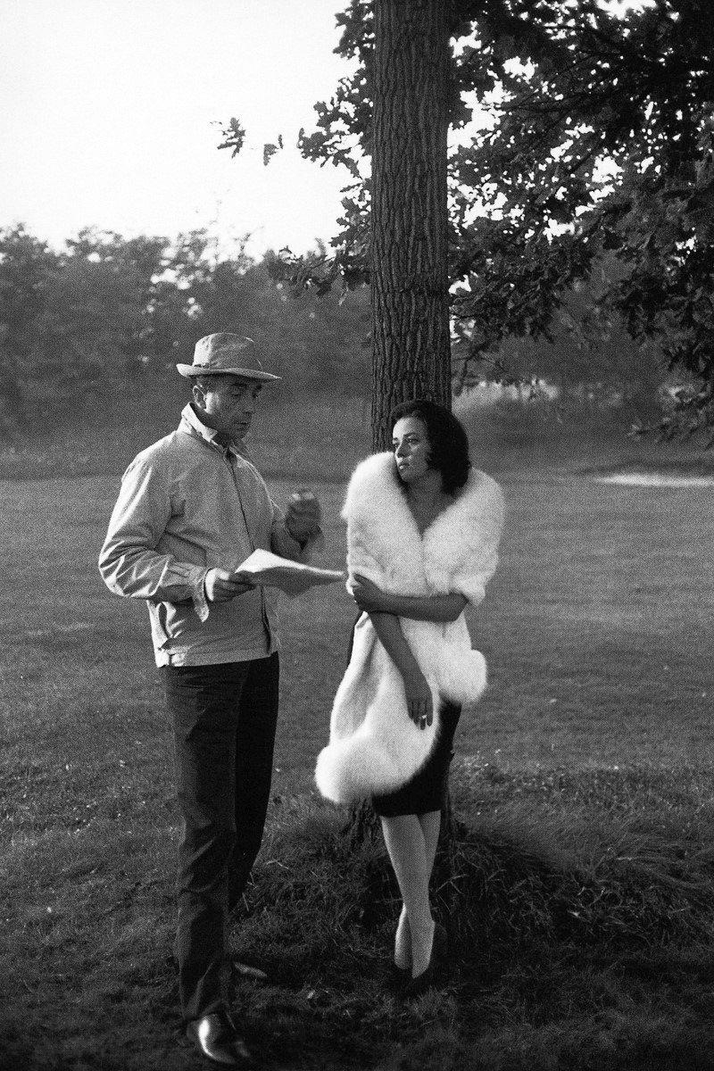 Antonioni and Jeanne Moreau