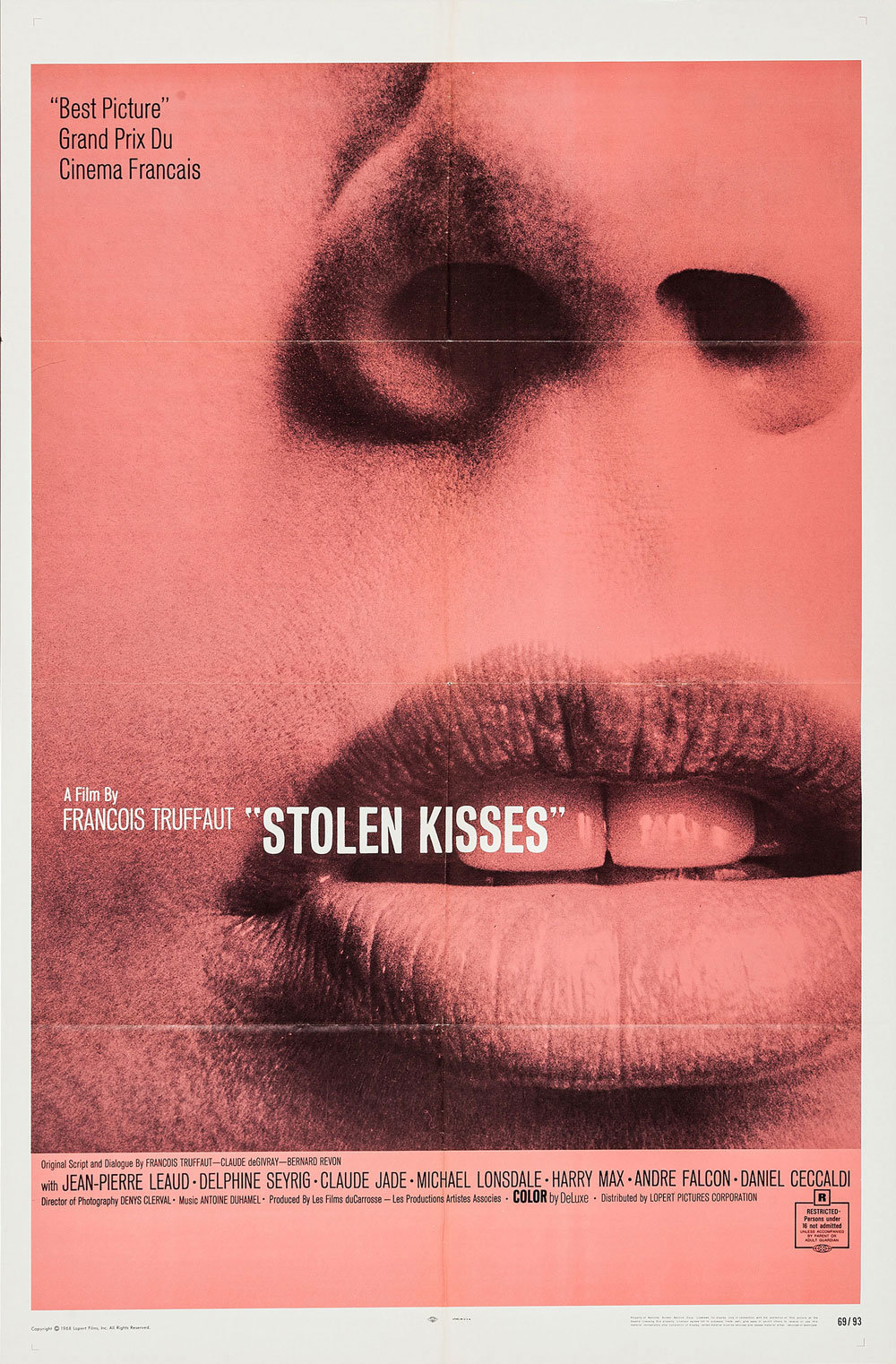 "Movie Poster of the Week: François Truffaut's ""Stolen Kisses"