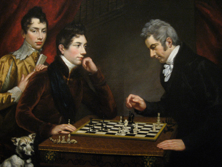The Chess Players by James Northcote