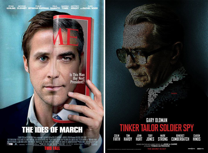 The Ides of March and Tinker, Tailor, Soldier, Spy posters