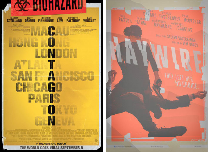 Contagion and Haywire posters