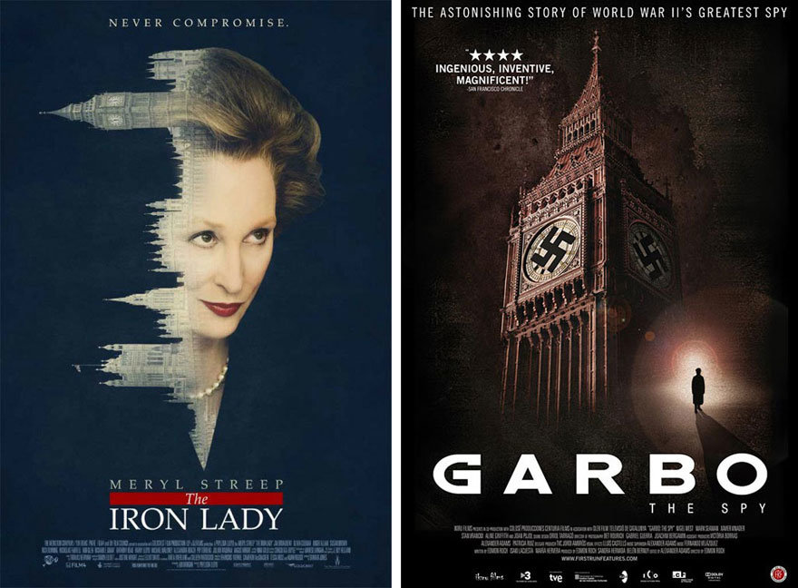 The Iron Lady And Garbo Spy Posters