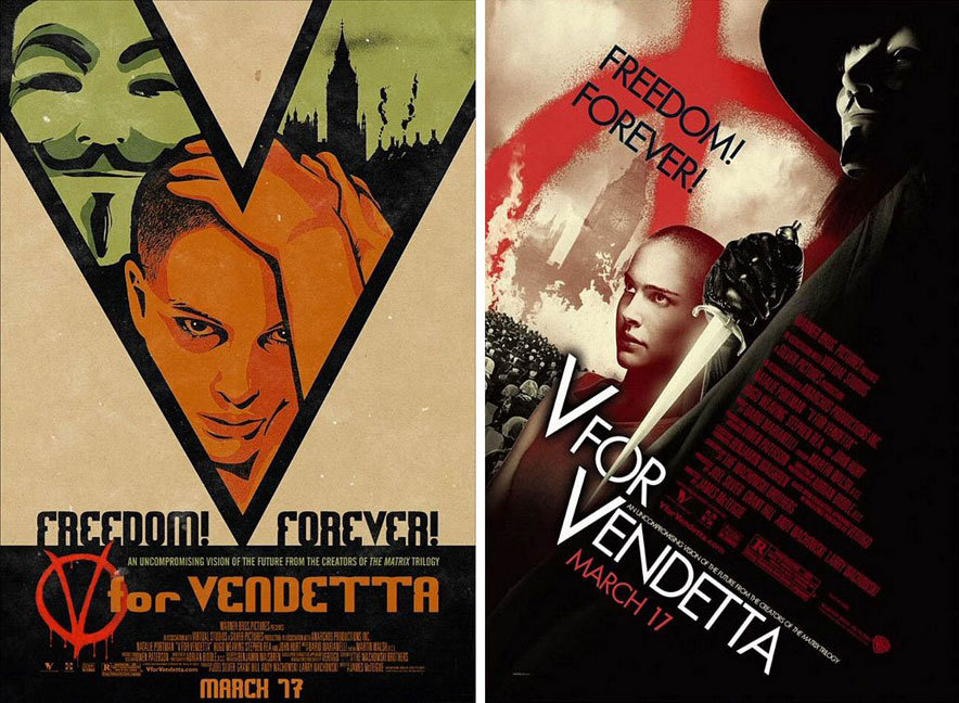 V for Vendatta posters