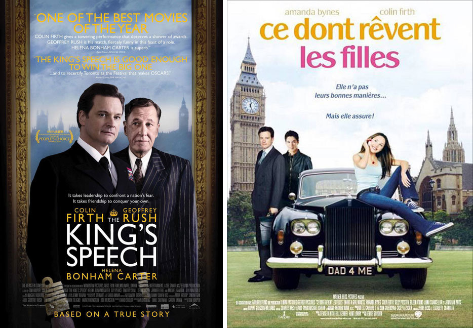 The Kings Speech And What A Girl Wants Posters