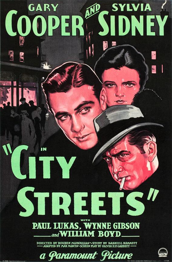 City streets poster