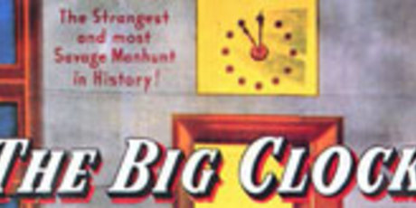 Movie Poster Of The Week Quot The Big Clock Quot On Notebook Mubi